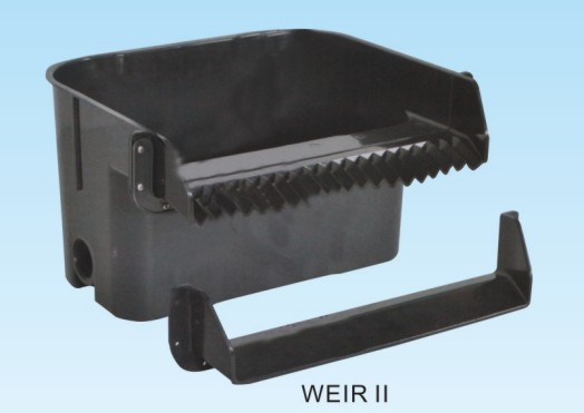 Pond weir box water fall container weir i or weir ii come for Pond filter box design